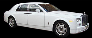 White Phantom Rolls Royce